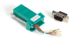 DB9 Colored Modular Adapter (Unassembled), Male to RJ-45, 8-Wire, Green -- FA4509M-GR