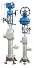 The steam conditioning valves are especially suitable for high pressure drop superheated steam and desupeheating in turbine bypass system.