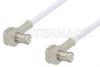 MCX Plug Right Angle to MCX Plug Right Angle Cable 60 Inch Length Using RG196 Coax -- PE3301-60 -Image