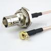 RA MCX Plug to BNC Female Bulkhead Cable RG316 Coax in 48 Inch -- FMC1738315-48 -Image