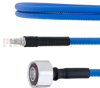 Low PIM 4.1/9.5 Mini DIN Male to QMA Female Plenum Cable SPP-250-LLPL Coax in 48 Inch and RoHS with LF Solder -- FMCA1790-48 -Image
