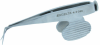 Excelta Two Star Stainless Steel Angled Stainless Steel Scissir 368 - 1/4 in 2 in Length -- EXCELTA 368