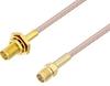 SMA Female Bulkhead to SMA Female Cable 50 cm Length Using RG316 Coax -- PE3W07334-50CM -Image