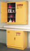Flammable Liquid Safety Storage Manual Close Cabinet -- CAB126-YELLOW