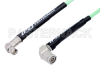 SMA Male Right Angle to TNC Male Right Angle Low Loss Cable 48 Inch Length Using PE-P142LL Coax, RoHS -- PE3C1409-48 -Image