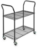 Wire Cart, 2 Shelf,L53 x W24 x H39 In. -- 3TPD2