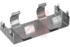 Battery Holder; C; 0.875 in. to 1.125 in.; Aluminum; Nickel Plated; PC Mount; 4 -- 70182735 - Image