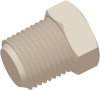 1/8-27 NPT Commercial Grade Hex Thread Plug, Natural -- AP031227N - Image