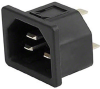Power Entry Connectors - Inlets, Outlets, Modules -- 1681X9990A410-ND - Image