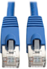 Augmented Cat6 (Cat6a) Shielded (STP) Snagless 10G Certified Patch Cable, (RJ45 M/M) - Blue 1-ft. -- N262-001-BL - Image