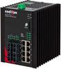 NT24k®-12FX4-POE Managed PoE+ Gigabit Ethernet Switch, SC 2km PTP Enabled -- NT24k-12FX4-SC-POE-PT -Image