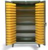 Stainless Steel Four Shelf Bin Cabinet -- 36-BS-244-SS