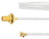 SMA Female Bulkhead to RA MMCX Plug Cable FM-SR086TB Coax in 18 Inch with LF Solder -- FMCA2109-18 -Image