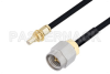 SMA Male to SSMC Jack Bulkhead Cable 12 Inch Length Using PE-SR405FLJ Coax -- PE3C4445-12 -Image