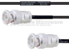 BNC Male to BNC Male MIL-DTL-17 Cable M17/119-RG174 Coax in 8 Inch -- FMHR0100-8 -Image