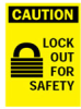 Lockout Safety Sign (B-401; BradyTuff(TM) Plastic) -- 754476-22909