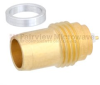 BMA Plug Slide-On Hermetically Sealed Thread-In Gold Plated -- FMCN1235 -Image