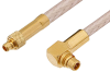 MMCX Plug to MMCX Plug Right Angle Cable 36 Inch Length Using RG316 Coax, RoHS -- PE34895LF-36 -Image