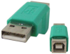 A Male to B Female USB Gender Changer -- 85-665 - Image
