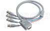 VGA Breakout Cable, HD15 Male / 4 BNC Male, 3.0 ft -- CTL4CAT-3 - Image