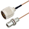 N Male to N Female Bulkhead Cable Assembly using RG178 Coax, 6 FT -- LCCA30068-FT6 -- View Larger Image