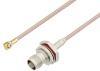 Snap-On MMBX Plug Right Angle to TNC Female Bulkhead Cable 24 Inch Length Using RG316-DS Coax -- PE3C4059-24 -Image