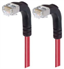 Shielded Category 6 Right Angle Patch Cable, Right Angle Down/Right Angle Down, Red, 30.0 ft -- TRD695SRA3RD-30 -Image