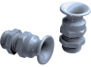 "Non-Metallic Spiral Strain Relief Cable Gland with Quick ""CLICK"" Insertion System -- SKINTOP® CLICK FLEX"