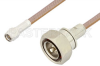 SMA Male to 7/16 DIN Male Cable 36 Inch Length Using RG400 Coax -- PE36165LF-36 -Image