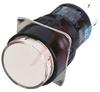 Push Button: White, RND LED PB SPDT IP40 -- 70174250