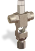 """(Formerly B1629-12-TP-SG), Cross Small Sight Feed Valve, Solid Gasket, 1/4"""" Male NPT Inlet, 1/4"""" OD Tube Outlet, Tamperproof -- B1628-245B2TW -Image"""