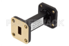 Bandpass Waveguide Filter With WR-28 Interface And a Pass Band From 38 GHz to 40 GHz -- PE-W28F002 -Image