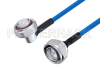 Plenum 7/16 DIN Male Right Angle to 7/16 DIN Male Low PIM Cable 60 Inch Length Using SPP-250-LLPL Coax , LF Solder -- PE3C4131-60 -Image