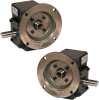 Worm Gear Reducers - Cast Iron, Flange Input-Shaft Output -- HDRF206-60/1-DE-56C