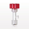 Tuohy Borst Adapter with Red Flat Cap, Female Luer Lock Sideport, Threaded Flare Connector -- 11221 -Image