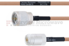 N Male to N Female MIL-DTL-17 Cable M17/128-RG400 Coax in 24 Inch -- FMHR0065-24 -Image
