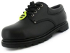 Black Leather Steel Toecap Safety Shoe - Image