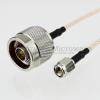 N Male to SMA Male Cable RG-316 Coax in 12 Inch -- FMC0102315-12 -Image