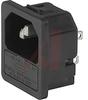 Fuseholder; 250 VAC; 5 x 20 mm; 1/1.5/2/2.5/3 mm; Panel Mount; -25 to degC -- 70080634 - Image