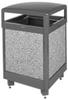 Aspen Stone Panel Hinged Top Waste Receptacle -- GPR451-GRAY