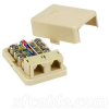 RJ12 Modular Surface Mount Jack -- 1707-SF-03