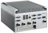 Intel® Atom D525 Fanless Compact System with 3 x M12 GigaLAN, 2 x M12 USB and Dual Display Fully compliant with EN 50155 -- ITA-5710 -- View Larger Image