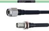 Temperature Conditioned Low Loss TNC Male to TNC Female Bulkhead Cable LL160 Coax in 100 cm -- FMHR0205-100CM -- View Larger Image