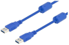 USB 3.0 cable A-A male w/ferrites 0.5M -- MUS3A00026-05M -- View Larger Image