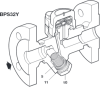 Stainless Steel Balanced Pressure Thermostatic Steam Trap -- BPS32Y - Image