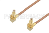 SSMC Jack Right Angle Bulkhead to SSMC Jack Right Angle Bulkhead Cable 24 Inch Length Using RG178 Coax -- PE3C4462-24 -Image