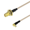 SMA Female Bulkhead to RA SMP Female Cable RG-316 Coax in 6 Inch -- FMC1221315-06 -Image