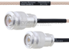 TNC Male to TNC Male MIL-DTL-17 Cable M17/113-RG316 Coax in 6 Inch -- FMHR0099-6 -Image