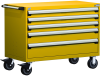 Heavy-Duty Mobile Cabinet, with Partitions -- R5BHE-3011 -- View Larger Image