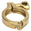 Gold-colored IDentifier Hinge Clamp, 4